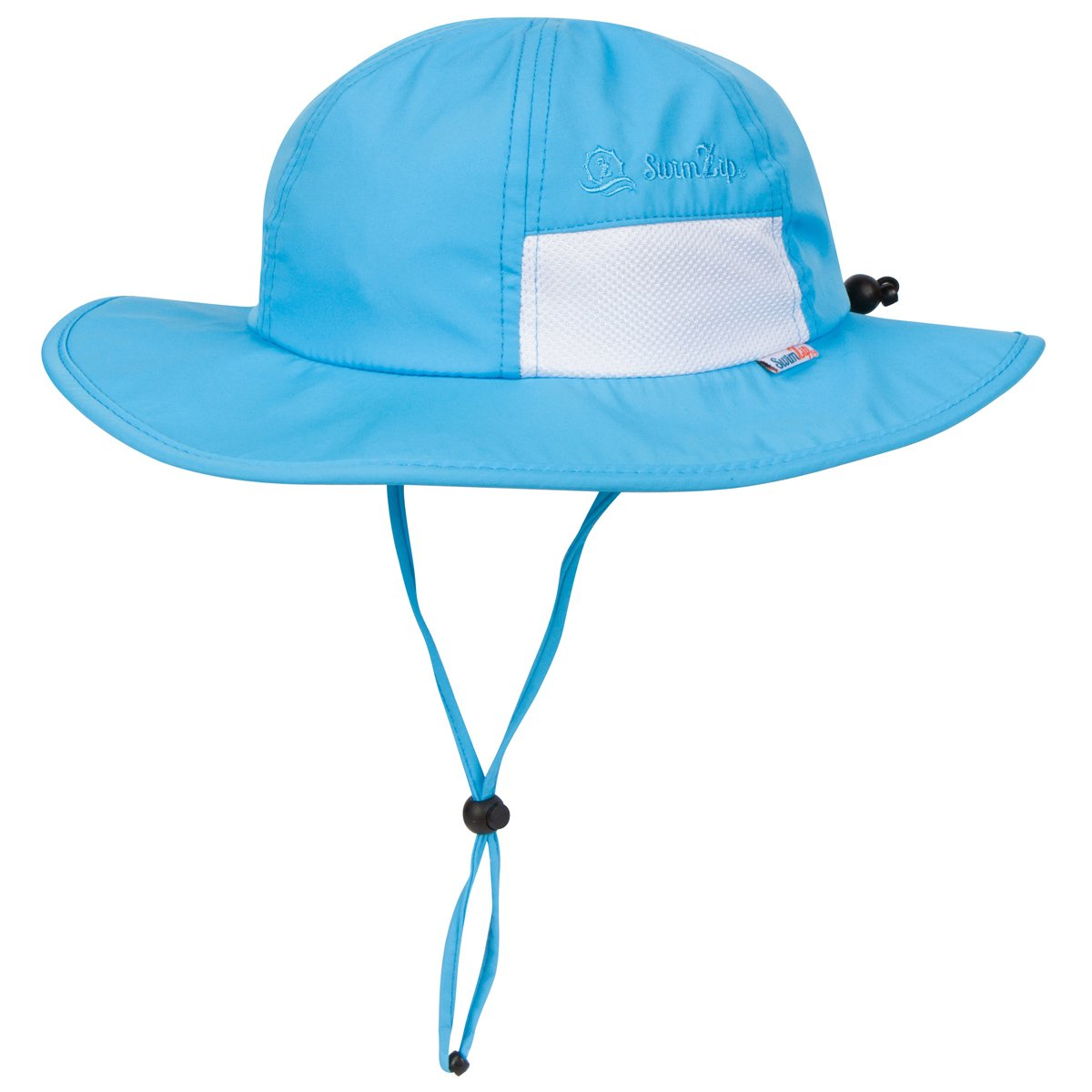 SwimZip Unisex Child Wide Brim Sun Protection Hat UPF 50 Adjustable Aqua 6-24 Month