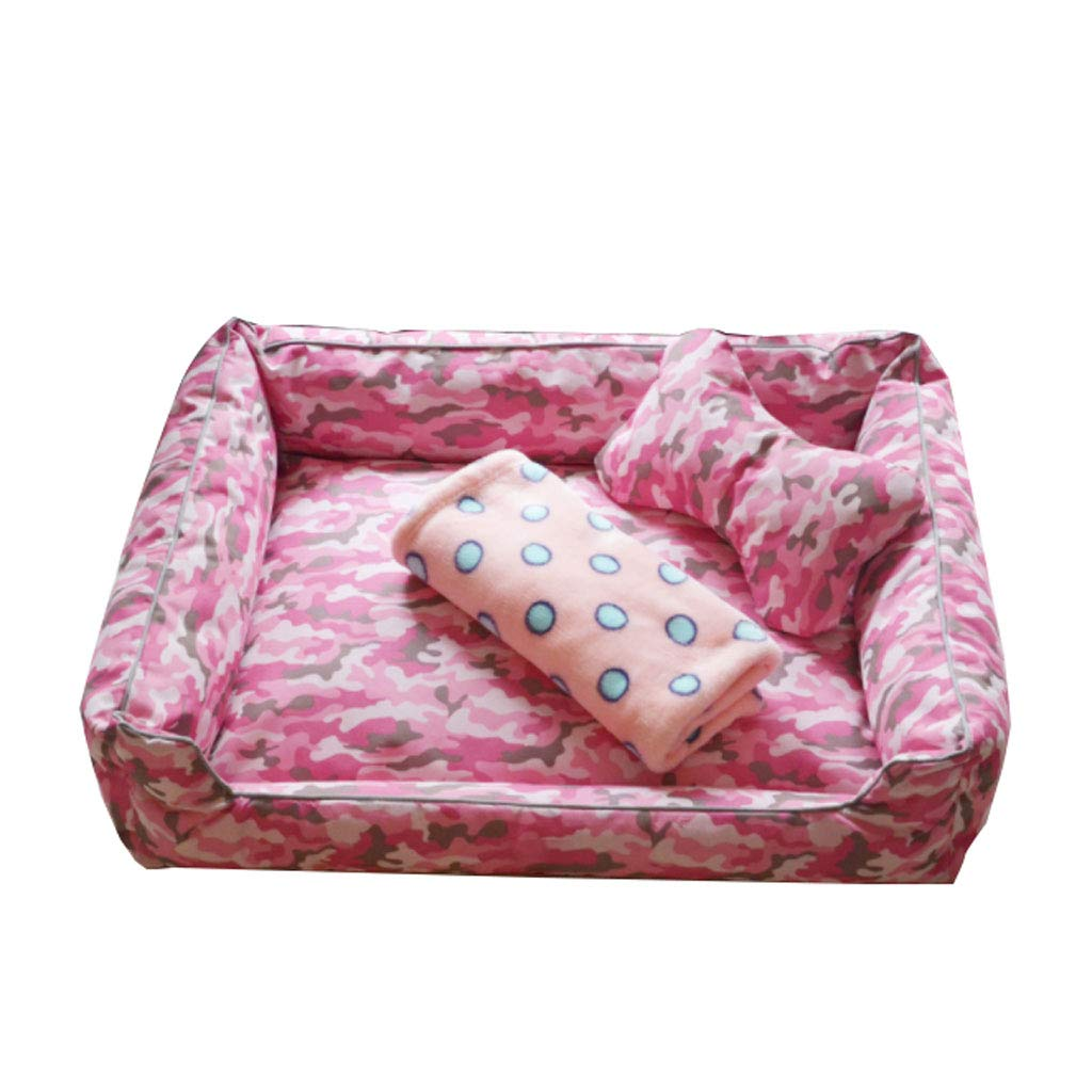 Pink XLargeXINGZHE Pet Dog BedSoft Winter Mattress Pet Bed for Dogs & Cats SleepSleep Mattress Deluxe Sofa Mattress For Head Support Pet bed (color   bluee, Size   L)