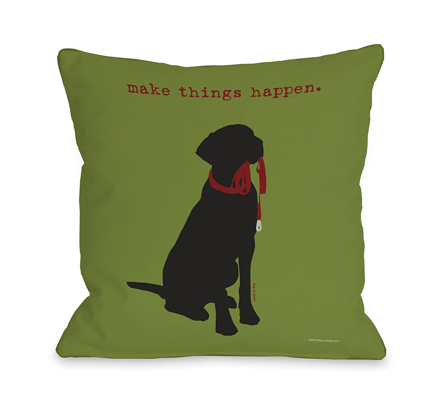 One Bella Casa Make Things Happen Throw Pillow, 26 by 26-Inch