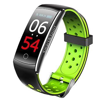 YQG Reloj Inteligente, Smartwatch con Pulsómetro Pulsera ...