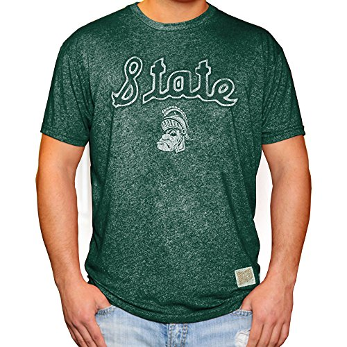 - Elite Fan Shop Michigan State Spartans Retro Tshirt Green - XL