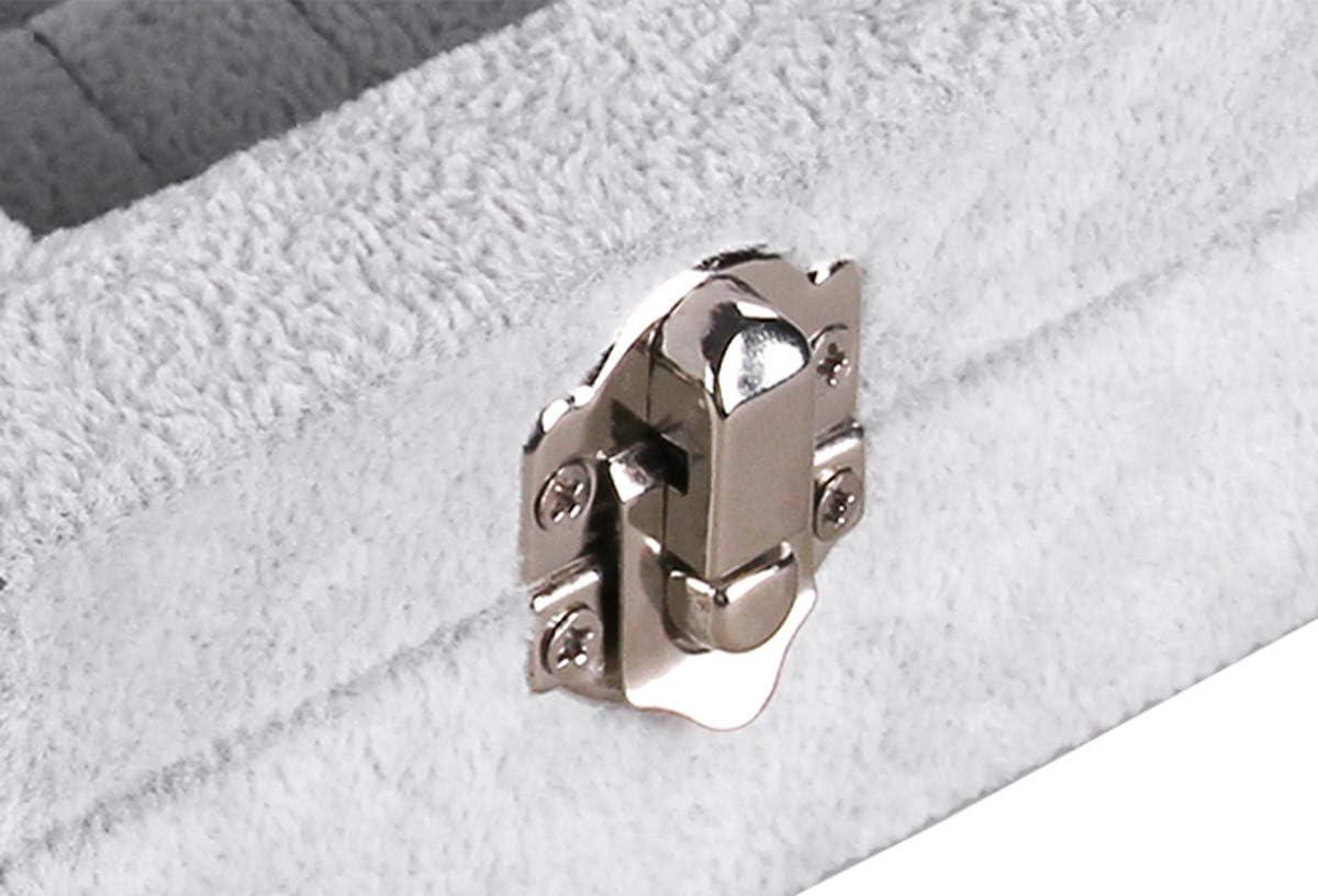 AUTOARK Ice Velvet Clear Lid 12 Grid Jewelry Tray Showcase Display Organizer,AJ-021