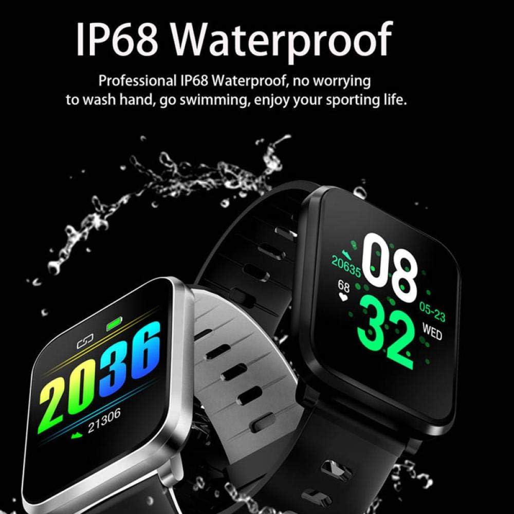 Smart Watch IP68 Impermeabile Frequenza cardiaca attività di Pressione sanguigna Fitness Tracker Sport Braccialetti Intelligenti rosso