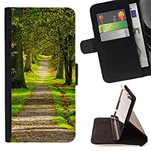 Momo Phone Case / Flip Funda de Cuero Case Cover - naturaleza parque bosque de la primavera - Apple Iphone 5C
