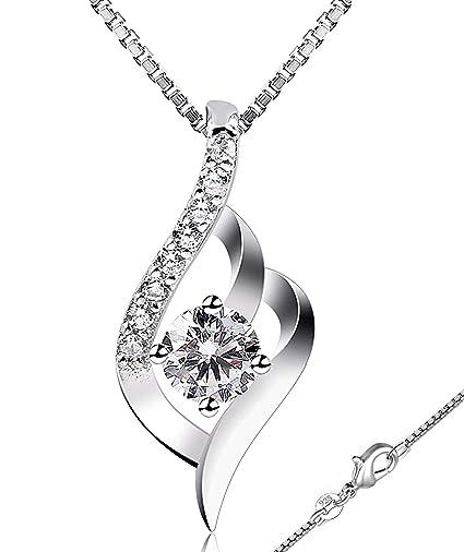 Collar Mujer Plata de Ley 925 ''Eres el amor de mi vida'' con Para Regalo Originales Cadena 45cm Longitud