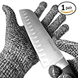 TYH Supplies Cut Resistant Safety Gloves High Performance Level 5 Protection EN388 Food Grade, Cutting & slicing Hand protection Kitchen Glove, Strong Silicone Grip Dots, Capacitive Touch Finger Tips