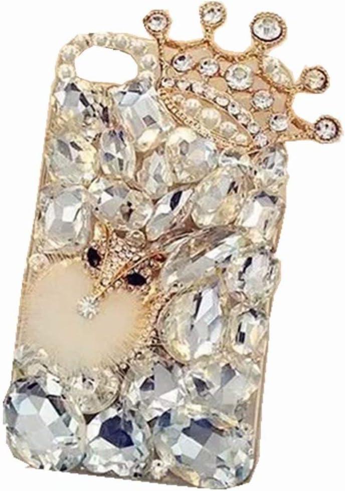 Lenovo Phab 2 Pro Full Crystal Diamond Case, 3D Handmade Luxury Sparkle Crystal Rhinestone Diamond Glitter Bling Clear TPU Silicone Case Cover for Lenovo Phab 2 Pro (Clear/Crown)