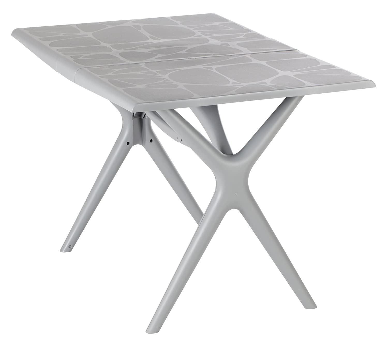 GROSFILLEX TABLE SIGMA PLIANTE 115X75 GRIS SOURIS Amazon