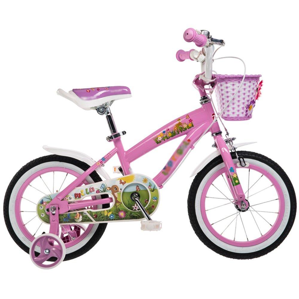 HAIZHEN マウンテンバイク 子供用自転車 ピンクイエロー 12インチ、14インチ、16インチ、18インチ 子供の贈り物金属のおもちゃ 新生児 B07CCKD84Sピンク ぴんく 16 inch