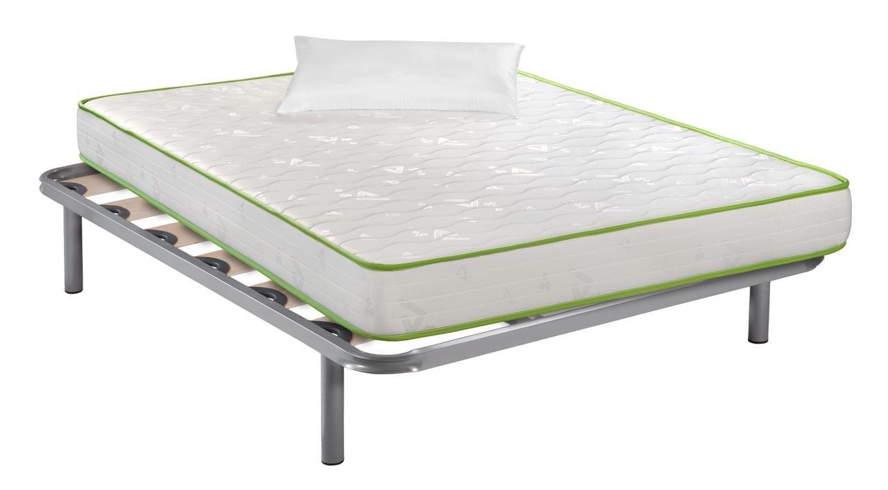 Santino Pack descanso: Somier Multilaminar + Colchón Narturfresh + Almohada fibras Hotel 105x190 cm: Amazon.es: Hogar