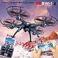 CieKen X5SW-1 Wifi FPV RTF 2.4G 4CH RC Black quadcopter Camera Drone Real-time Images with HD Camera UAV with Built-In LED