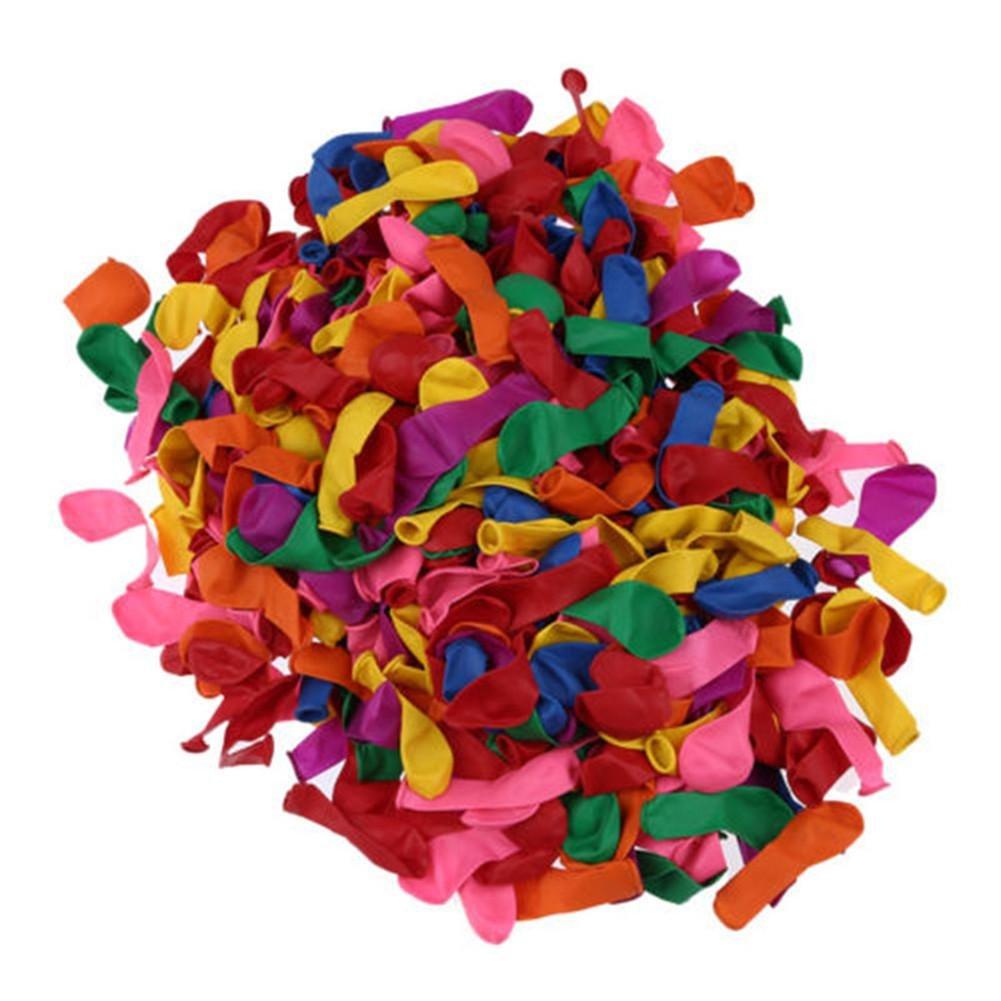 Su-luoyu 500 Ballons Ballons d'eau Multicolores Bombes à Eau Coloré Été Anniversaire Enfant Jouet Magique Jeu Piscine Plage Décoration