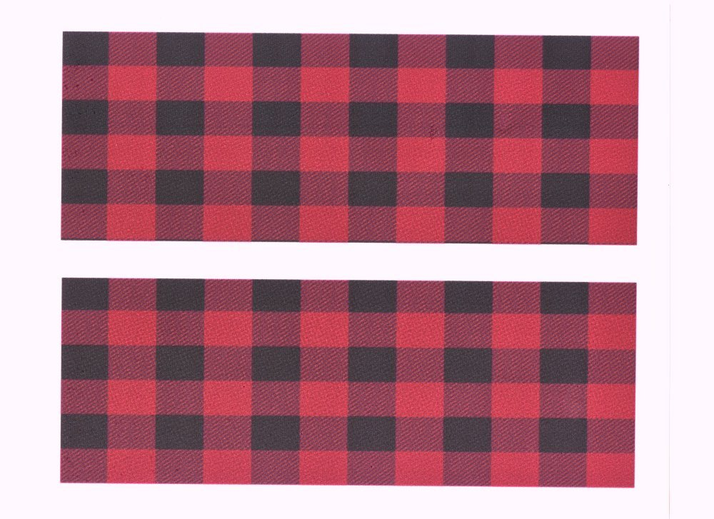 Red Plaid Birthday Cake Side Designer Strips Edible icing Image Whimsical Practicality
