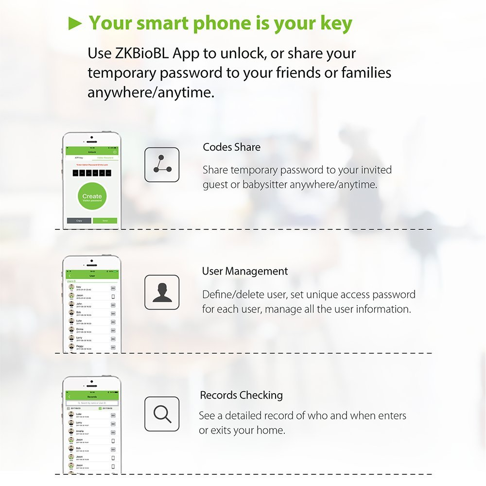 Zkteco Dl30b Keyless Bluetooth Locks Digital Keypad Door Lock Smart Residential Electrical Wiring Diagrams Price Usd 1000 Minorder 500 Home Entry 5 Pcs Rfid Cards Zinc Alloy Improvement