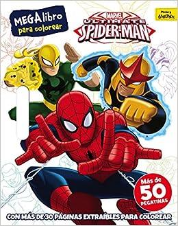 Spider Man Megalibro Para Colorear Amazones Marvel Editorial