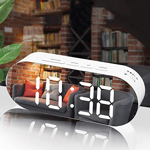 Digital Despertador Reloj Espejo Reloj Digital Snooze Led ...