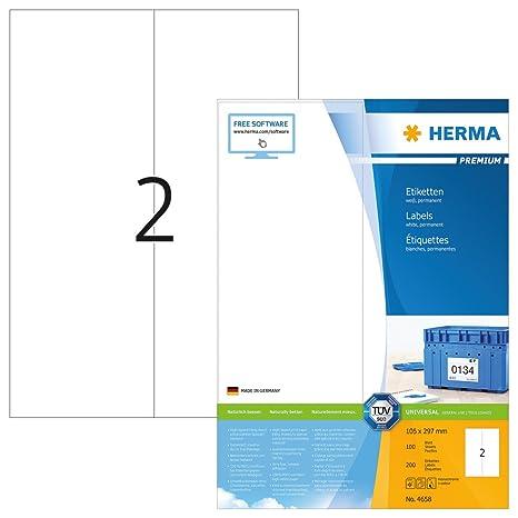 n á 25 Blatt Packen24 Etiketten 105x48 mm selbstklebend A4 Schachtel