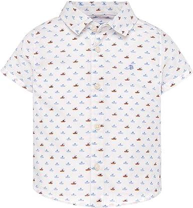 Mayoral - Camisa - Manga Corta - para bebé niño Blanco 80 cm ...