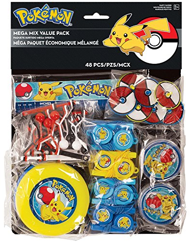 Amscan Pokemon Mega Mix Value Pack, Party Favor -