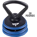 Hyperwear Soft Adjustable Kettlebell Handle & SoftBell Weight Plates Available in 7, 10, 15, 18, 20, 23, 25 or 30 lb…