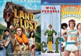 Land of the Lost + Semi-Pro & Elf DVD Will Ferrel Collection Comedy Set 3 Movies