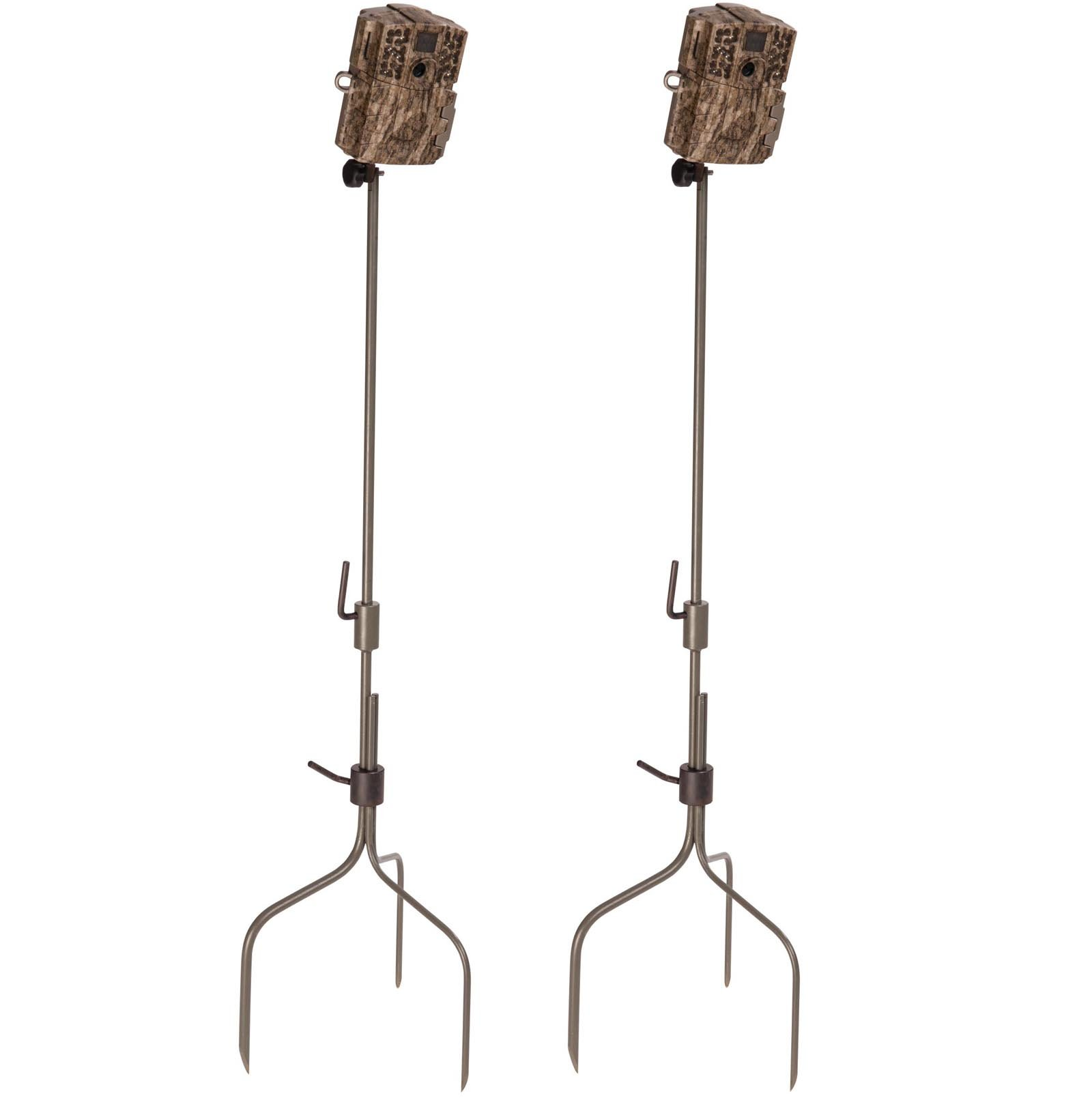 (2) Moultrie Universal Infrared Game Hunting Camera Steel Stakes | MCA-13051