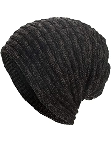922847962f8 Women Men Warm Winter Baggy Beanie Hat BCDshop Crochet Knit Caps Skull Hats  Elastic