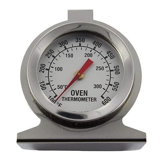 Invero - Termómetro universal para horno (acero inoxidable, esfera ...