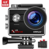 Campark X25 4K Action Camera Ultra HD WiFi 30M Underwater Waterproof Camera 170° Wide Angle with 2 Rechargeable Batteries and Mounting Accessories Kit