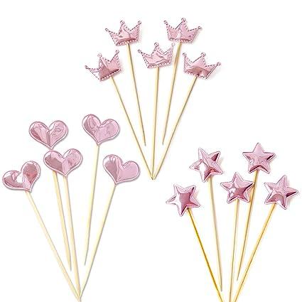 TinaWood - 15 adornos para cupcakes para decoración de ...