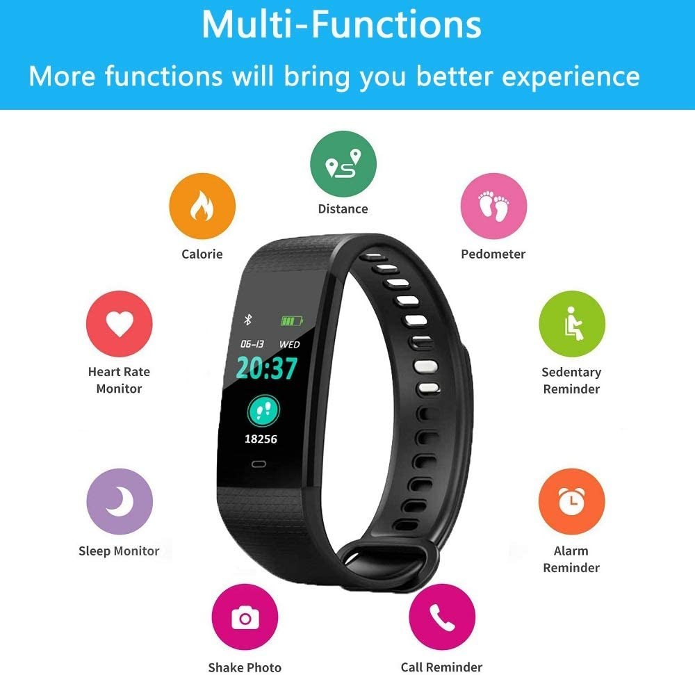 Blood Pressure Watch,Activity Tracker with Heart Rate and Blood Oxygen Monitor,Step Counter Pedometer Watch for Kids Women and Men