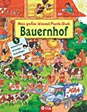 Mein großes Wimmel-Puzzle-Buch - Bauernhof: Suchen, Entdecken und Puzzeln - Für Kinder ab 4 Jahren