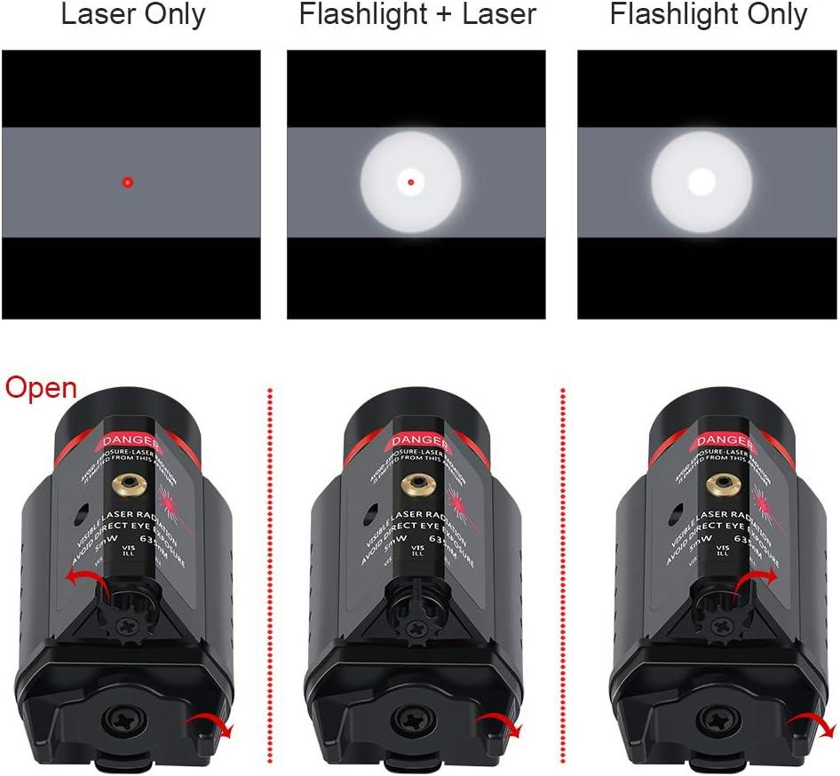 Feyachi LF-38 Red Laser Flashlight Combo 200 Lumen Weapon Light with Picatinny Rail Mount : Sports & Outdoors