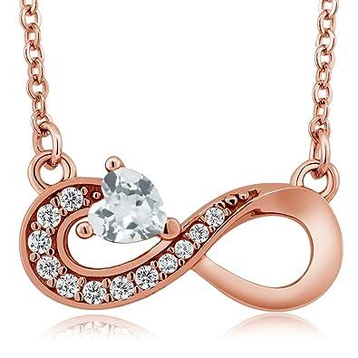 f79427fe2f7a7 Amazon.com: 0.40 Ct Heart Shape Sky Blue Aquamarine 18K Rose Gold ...