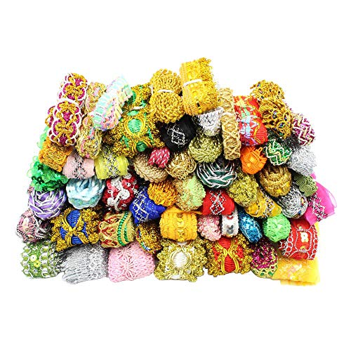 - Approx 3/8''-1-1/4'' Wide (10-35mm) x 12yards Random Lace Ribbon Various Embellishment Lace Trim Sewing Decoration Accessories (Mixed Colors 1)
