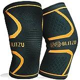 Blitzu Flex Plus Knee Sleeves (Small, Orange)