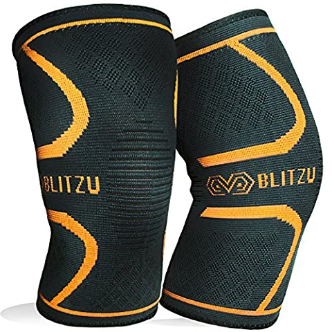 Blitzu Flex Plus Compression Knee Brace for Joint Pain, Meniscus Tear, ACL, MCL and Arthritis Relief Improve Circulation Support for Running, Gym Workout Recovery Best Sleeves Patella Stabilizer Pad S