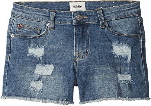 Hudson Kids Girl's 3'' Fray Hem Shorts in Illustrion Blue (Big Kids) Illustrion Blue 7