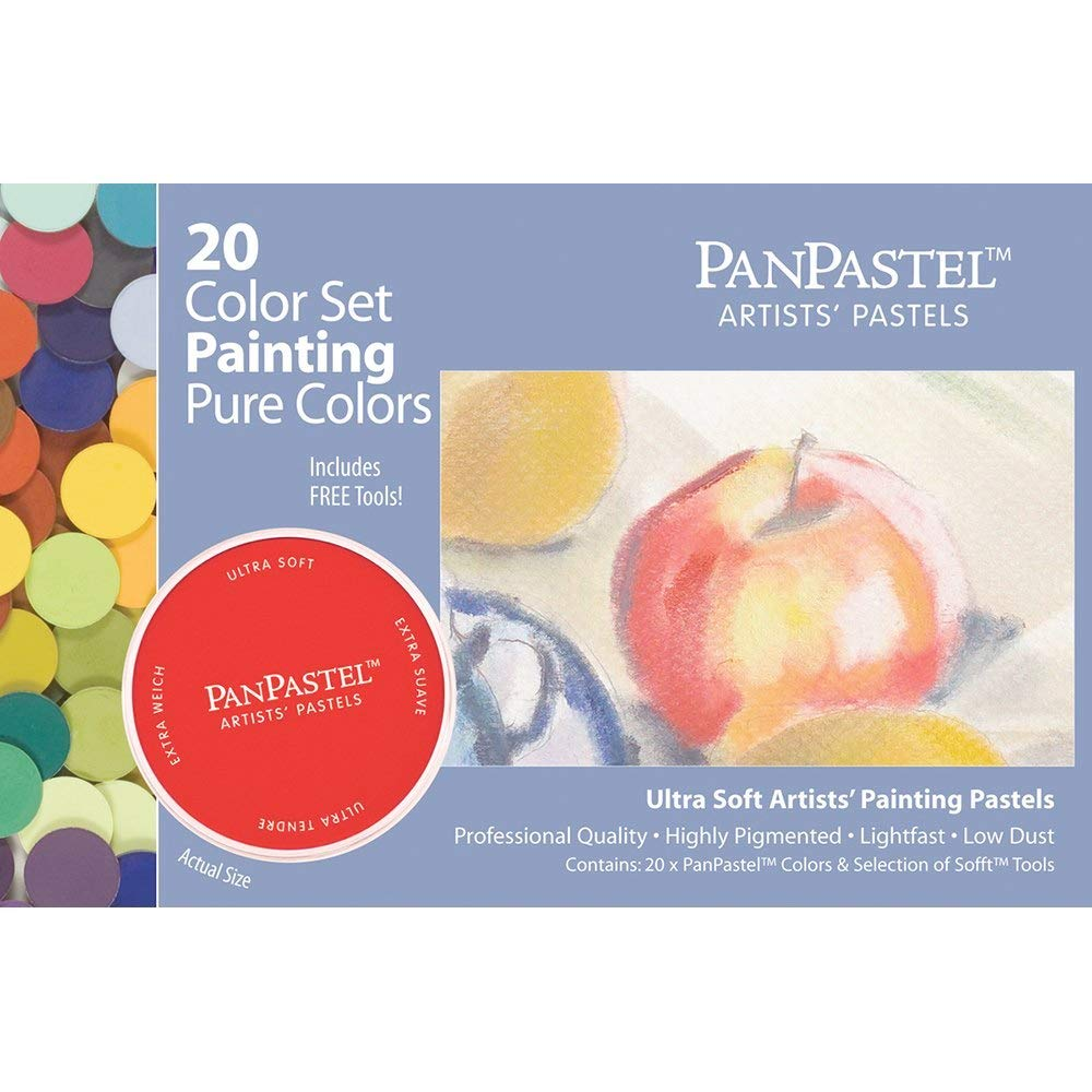 Panpastel Ultra Soft Artist Pastel Painting Set, 20-Pack by Panpastel