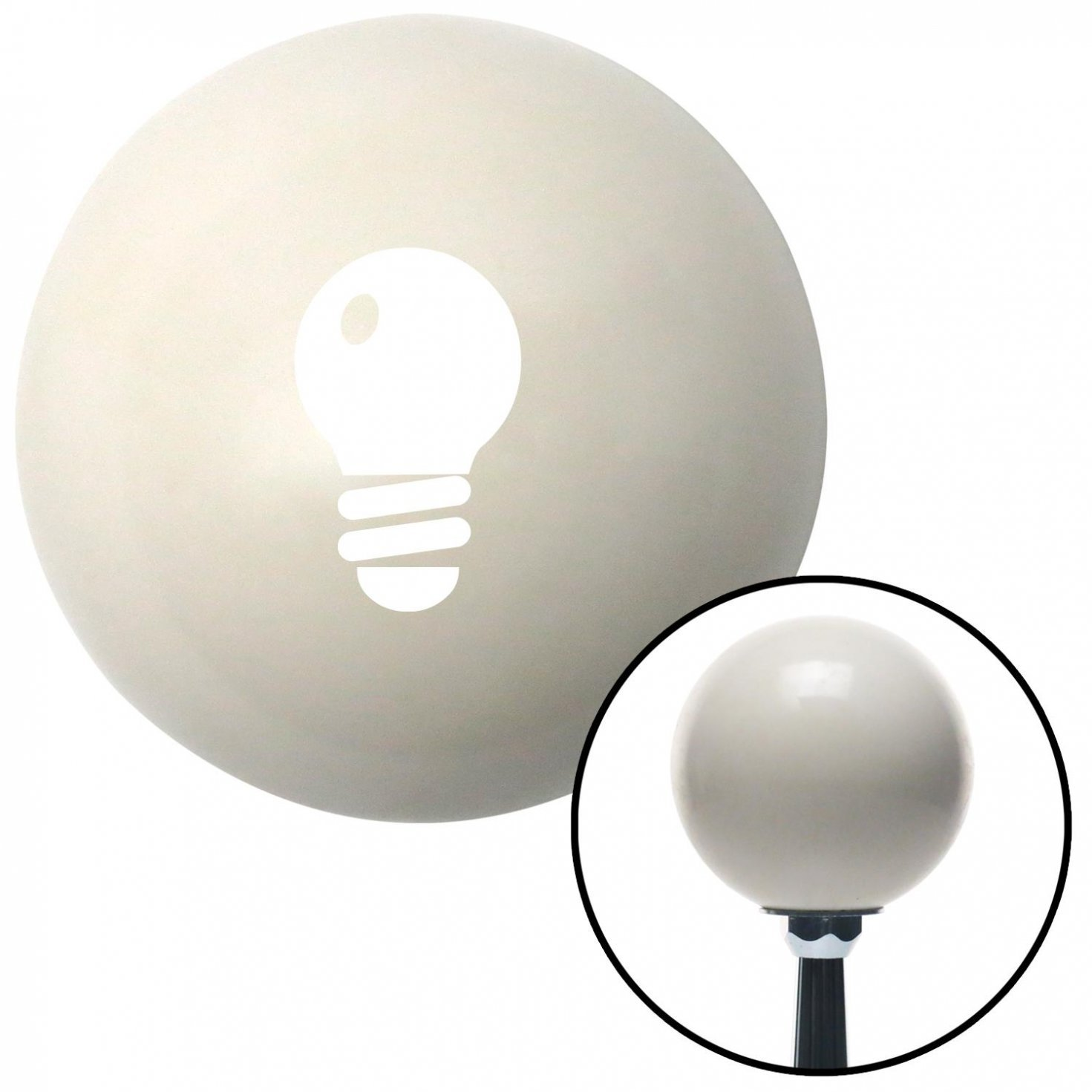 White Light Bulb American Shifter 32784 Ivory Shift Knob with 16mm x 1.5 Insert
