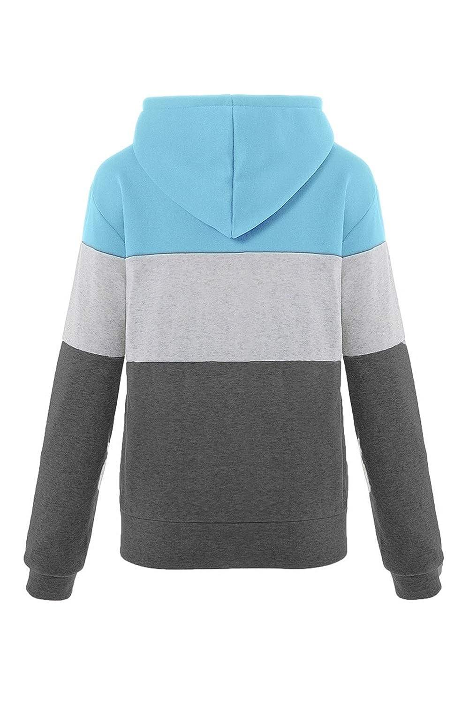 KAMA BRIDAL Womens Long Sleeve Hoodie Sweatshirt Pullover Active Blouse Jacket