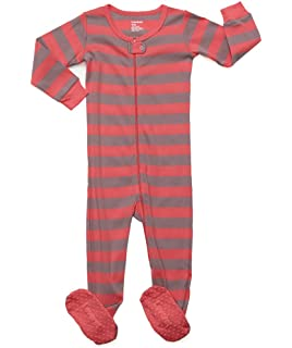 c7f754072 Amazon.com  Elowel Baby Girls Footed Giraffe Pajama Sleeper 100 ...