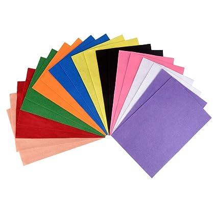 ewtshop® - Fieltro para Manualidades, 20 Hojas en Formato 30 x 20 cm, 10 Colores a 2 Hojas, para Manualidades y Costura