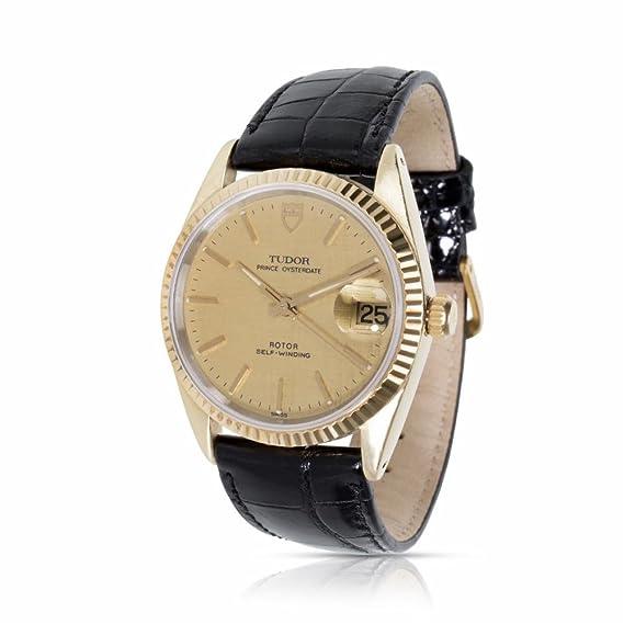 Tudor Prince Oysterdate 74035 - Reloj para hombre (chapado en oro, certificado de autenticidad