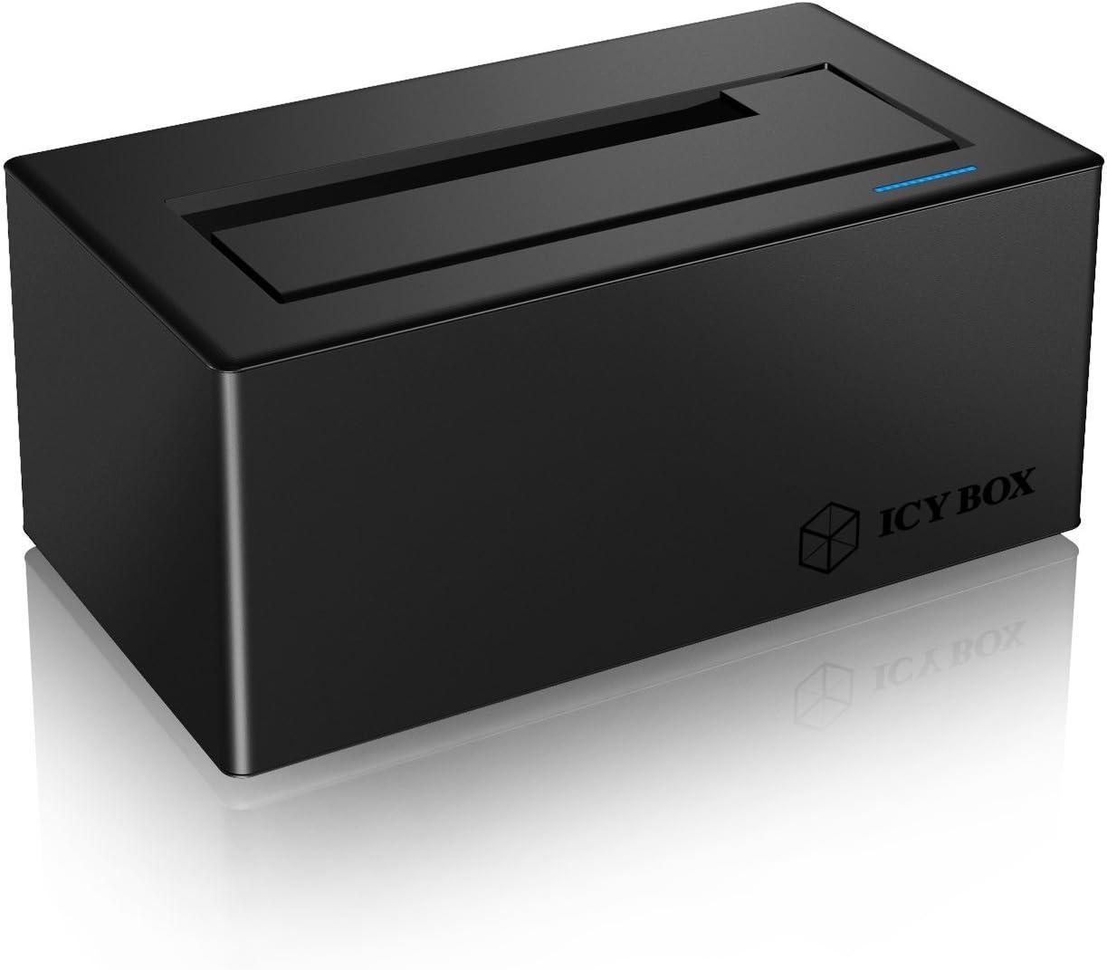 ICY BOX Estación de acoplamiento IB-117-U31 USB 3.1, negro