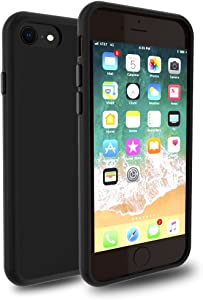 iPhone 8 7 Case, DragonFruitee iPhone 8 Case Clear / iPhone 7 Case [Full TPU Cushion] [Raised Lip] [Corner Reinforcement Protection] [Scratch Resistant] for Apple iPhone8 / iPhone7 2016 2017 - Black