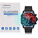 Compatible for Diesel On Men's Full Guard Screen Protector,Poyiccot 2Pack 9H Premium Hardness Tempered Glass for Diesel On Men's Full Guard 2.5 Touchscreen Watch 2018