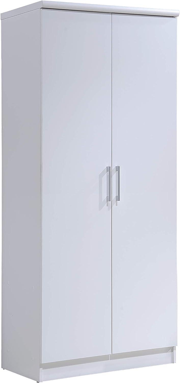HODEDAH IMPORT Hodedah 2-Door Armoire with 4-Shelves Wardrobe