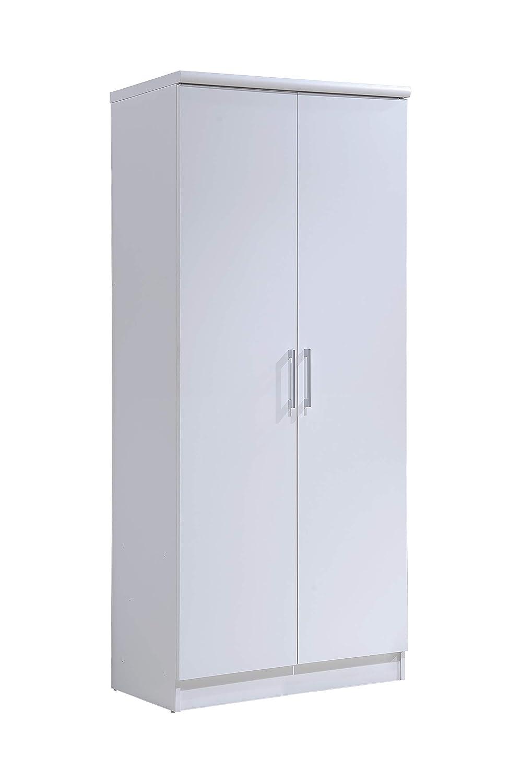 Hodedah 2 Door Wardrobe with Adjustable/Removable Shelves & Hanging Rod, Mahogany Hodedah Import Inc. - DROPSHIP HID8600 MAHOGANY