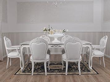 Simone guarracino tisch merton modern barock stil dreieckig weiß